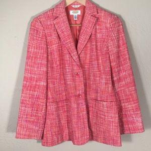 Talbots Petites blazer woven pattern silk 100% ext